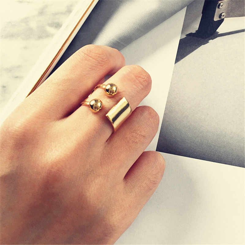 2018 Copper ball elegant leisure fashion punk woman delicate ring ring  jewelry wholesale