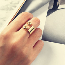 2018 Copper ball elegant leisure fashion punk woman delicate ring  jewelry wholesale