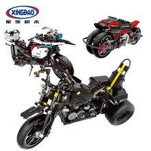 XINGBAO 03019/03020/03021 The Heavy Motorcycle Set Building Blocks Bricks Compatible LegoINGs Technic Car Educational Toys