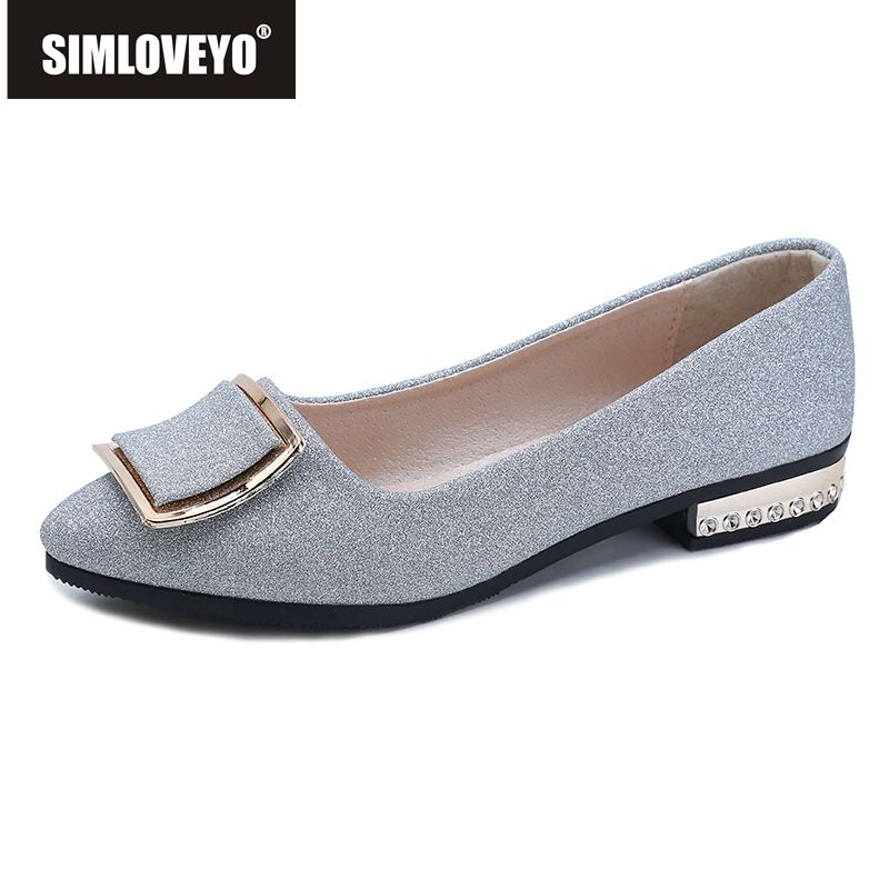 SIMLOVEYO Brand 2018 Spring New Ladies Flat Shoes Casual Women Shoes Comfortable flats Pointed Toe Flat Shoes sapatos mujer B852 цена 2017
