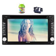 Android 5.1 Car Stereo Touch Screen Double Din Car DVD Player In Dash GPS Navigator FM Radio Bluetooth Head Unit WiFi+Camera in