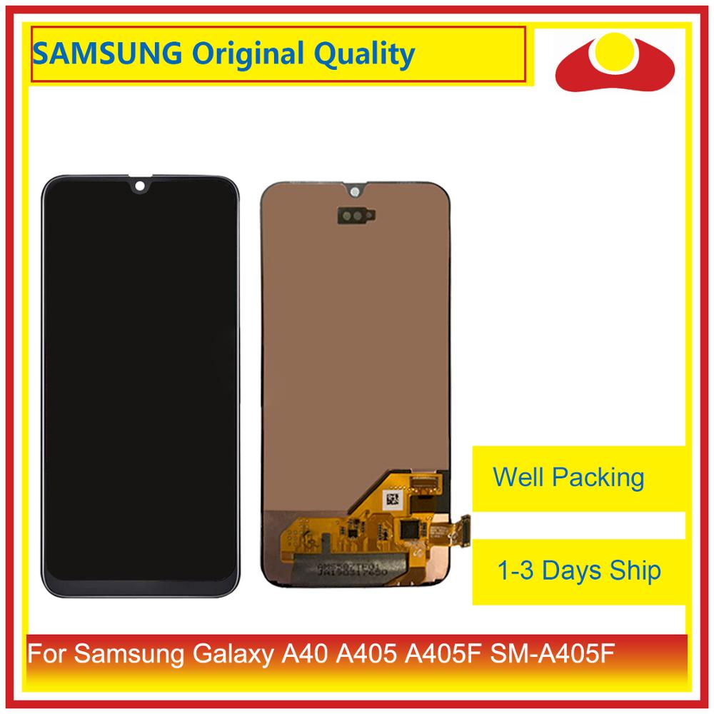 "Original 5.9"" For Samsung Galaxy A40 A405 A405F SM A405F LCD Display With Touch Screen Digitizer Panel Pantalla Complete-in Mobile Phone LCD Screens from Cellphones & Telecommunications"