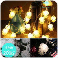 20pcs Led Lights Home Decoration Lighting Pine Cone Diy Fairy String Light Outdoor For Xmas Wedding