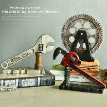 Лофт американский Смола шестерни трубы гаечные ключи промышленный ветер Творческий Engrenage украшения кафе бар Декор