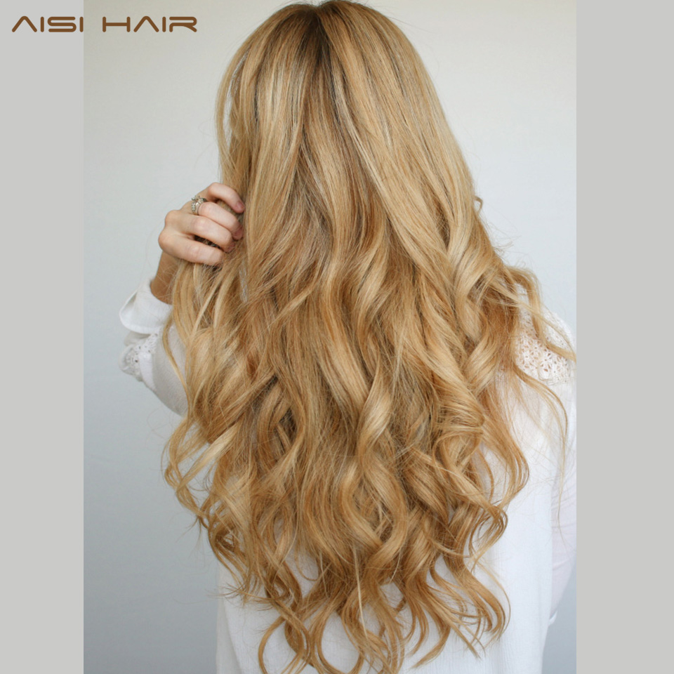 beach waves hair style aisi hair 22 quot 17 colors wavy high temperature fiber 1701 | AISI HAIR 22 17 Colors Long Wavy High Temperature Fiber Synthetic Clip in Hair Extensions for