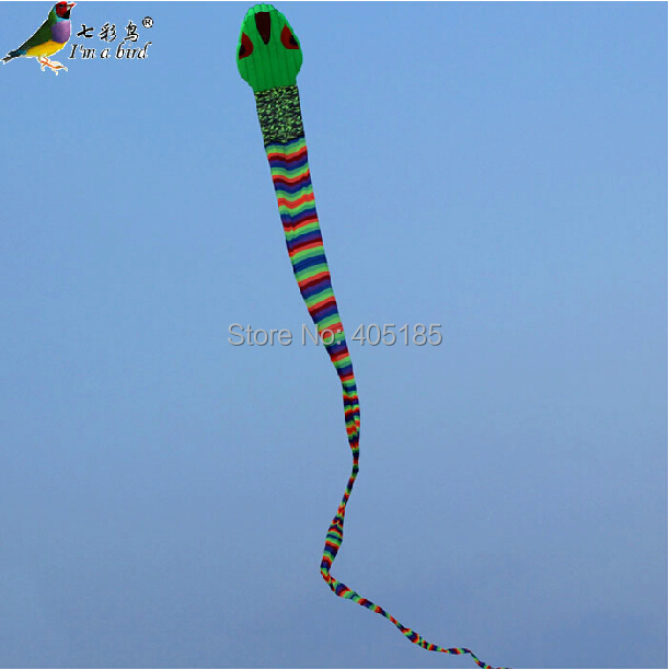 Free Shipping Outdoor Fun Sports 40m Power Software Snake Kite Good Flying