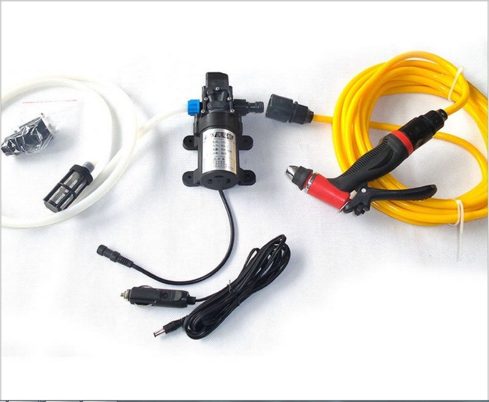 Portable 80W 130PSI High Pressure Car Electric Washer Wash Pump 12V  цены