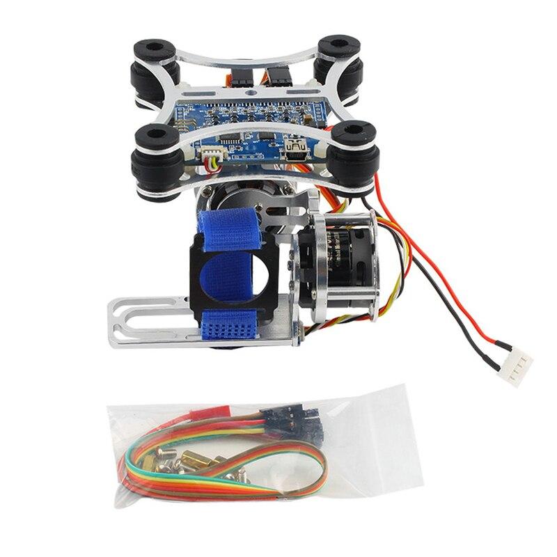 1 шт. супер легкий Бесщеточный Gimbal Камера Рамки + 2 Двигатели + контроллер 160 г для Phantom GoPro 3 4