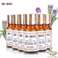 Famous brand oroaroma Geranium Lily Clary Sage Petitgrain Melissa Frangipani Essential Oils Pack Aromatherapy Spa Bath 10ml*6