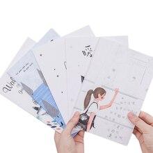 10 팩/많은 한국 편지지 작은 신선한 부드러운 얼굴 복사 귀여운 32k 자동차 라인 A5 노트북 다섯 선택