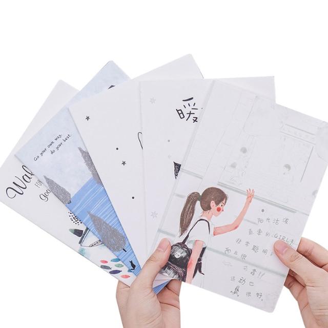 10 paczek/partia Korea południowa piśmienne małe świeże miękka twarz kopia słodkie 32k linii samochodu A5 Notebook pięć wyboru