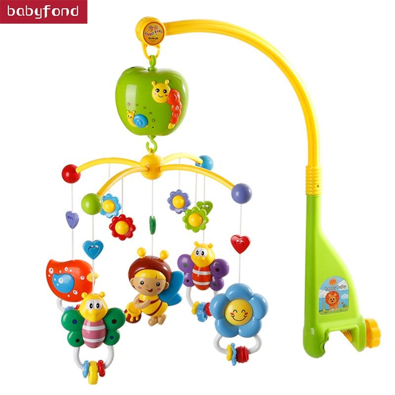 0-12 Months Newborn Toy RattlesTian dou Baby Bed Bell Music Rotation Bedside