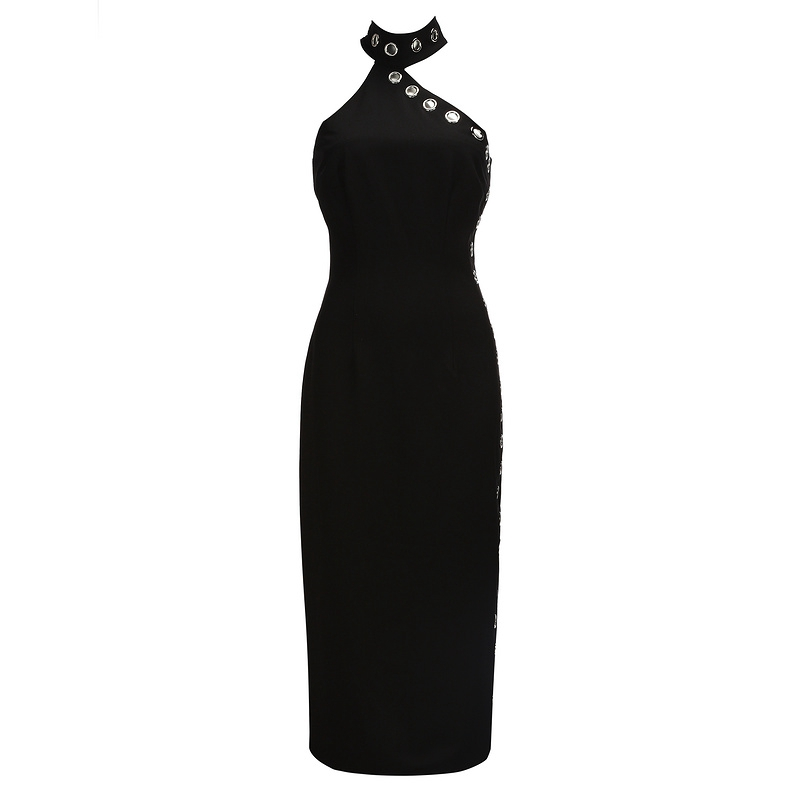 Fiesta Bqueen Hueco Noche De Celebridad Negro Verano Dress Black Vestido Nuevo Sin Clubwear Mujer Halter Mangas 2019 CpTgqzwC