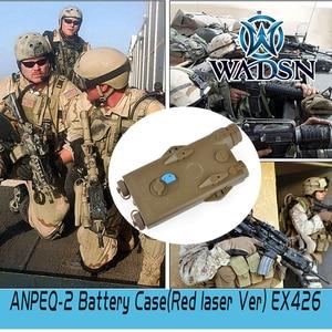 Image 5 - WADSN Airsoft PEQ2 Tactical AN/PEQ 2 caja de batería láser rojo PARA RIELES DE 20mm, sin función, funda de batería Softair PEQ WEX426