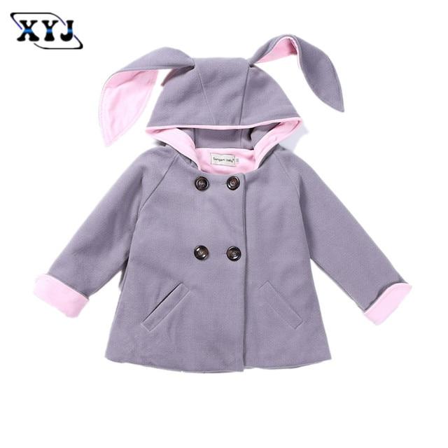 bacb3ec39 € 22.62 |2016 niños del invierno Abrigos para Niñas conejo chaqueta con  Bonnie oído Niñas Outwear la capa ocasional traje para bebé ropa en ...
