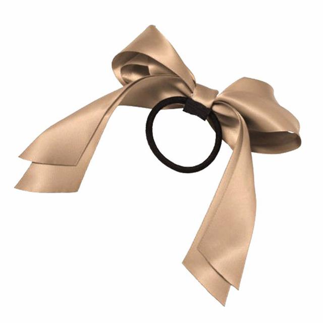 1PC 2018 Women Tiara Satin Ribbon Bow Hair Band Rope Scrunchie Ponytail Holder Gum