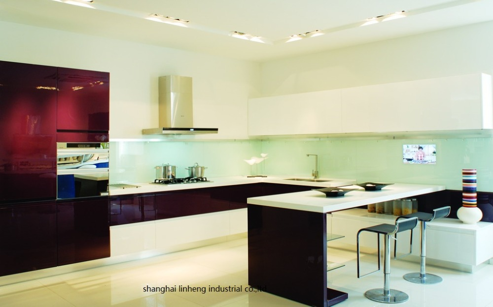 High Gloss/lacquer Kitchen Cabinet Mordern(LH-LA050)