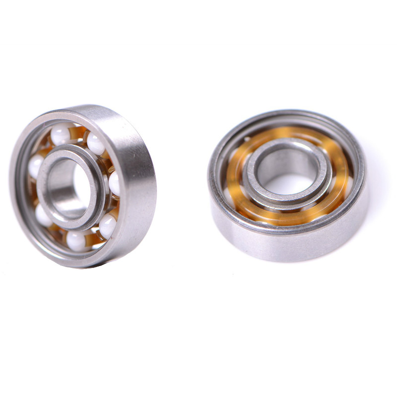 High Hardness 1pc Ceramic Alloy Inline Speed Black 608 Ball Bearing For Finger Spinner Wear Resistant Skateboard Bearings image