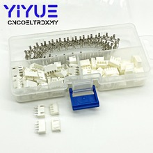 240pcs/40sets XH2.54 4pin 2.54mm Pitch Terminal Kit / Housing Pin Header JST Connector Wire Connectors Adaptor XH Kits TJC3