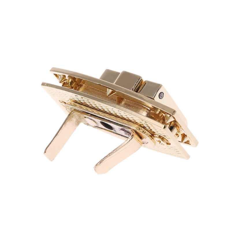 Hot Sale 1Pc Metal Clasp Turn Lock Twist Locks for Handbag Shoulder Bag Purse Hardware DIY Craft Replacement Bag Accessories New