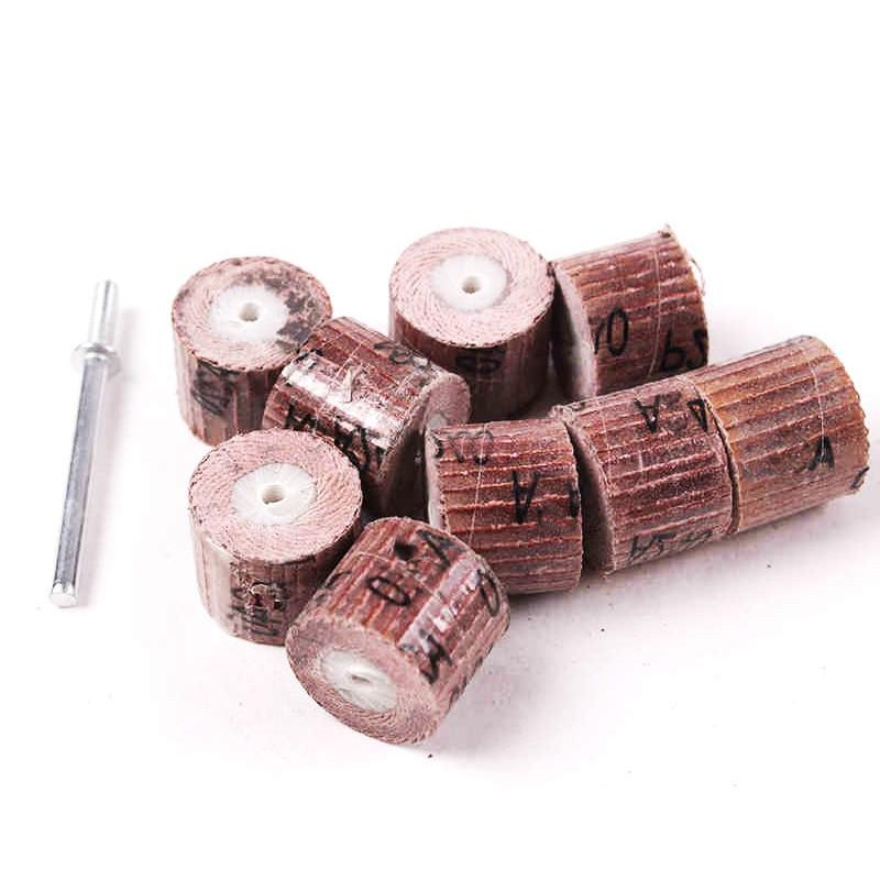 10pcs 12.7mm sandboard چرخ سنگزنی مینی دریل ابزارهای dremel لوازم جانبی چرخش ابزار سایشی بافر ساینده برای نجاری