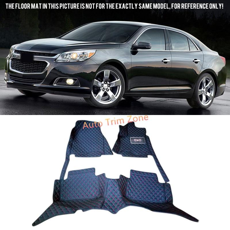 все цены на Black Interior Leather Floor Mat & Carpet For Chevrolet Malibu 2013-2015 онлайн