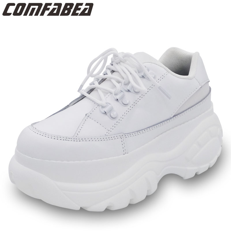 New 2019 Casual Shoes Women Spring White Platform Shoes Creepers Ladies Flats Shoes Women Footwear PU
