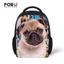 3D animal de bande dessinée enfants sacs à dos maternelle roquet mignon chien petit sacs à bandoulière bébé enfants sac pack enfant mochila infantil