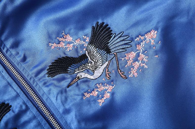 Custom Embroidered Satin Jacket 11