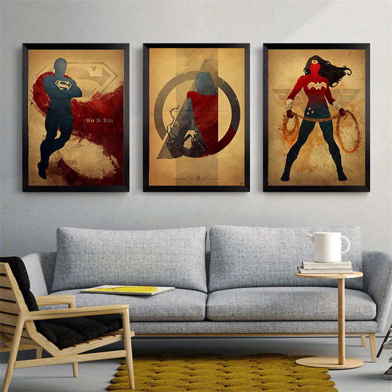 Super Hero Justice League canvas Painting Decor Wall Pictures Art Posters and Prints Canvas Painting for pub bar cafe