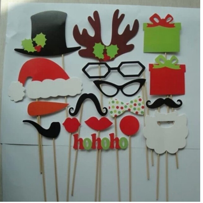 17pcsset diy christmas decorations photography props santa claus funny hat beard antlers props supplies drop shipping hp068 on aliexpresscom alibaba