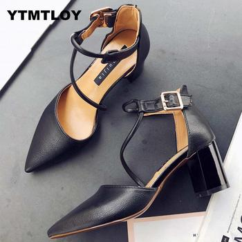 2019 New Hot Summer Women Shoes Pointed Toe Pumps Dress High Heels Boat Wedding Tenis Feminino Zapatos De Mujer Cross-tied 1