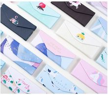 Climemo Foldable Cartoon Unicorn Stationary Storage Flamingo Case PU Cactus Pencil Bag Pencil Case Cute Penciles Pouch NP172(China)