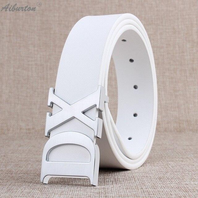2016 Homme en cuir De Marque Ceinture designer ceintures hommes haute  qualité mâle ceinture grande lettre 5ecad71a58c