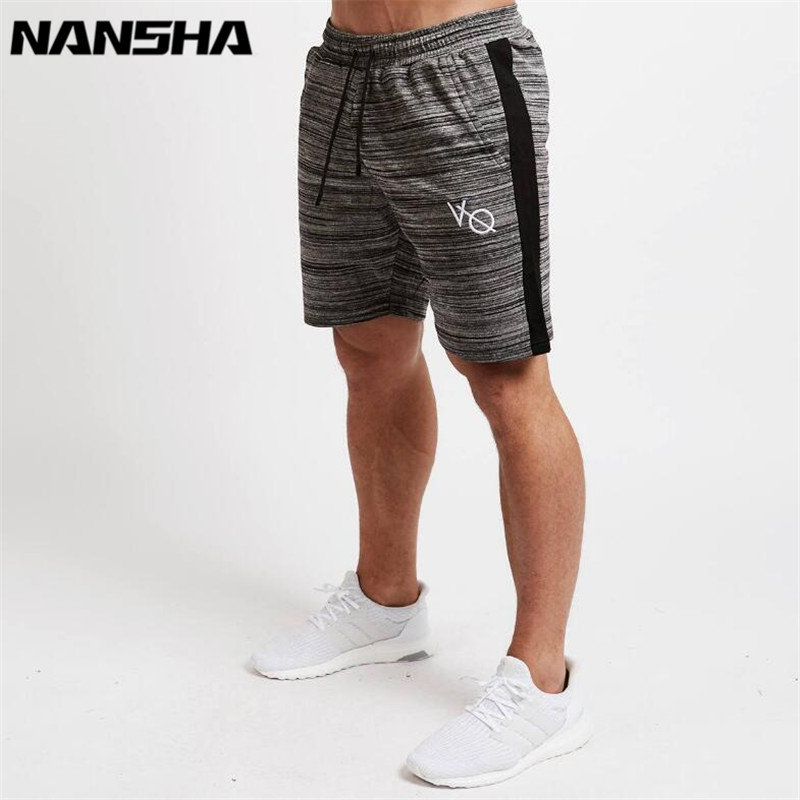 2018 New Shorts Men Striped Sporting Beach Trousers Cotton Bodybuilding Sweatpants Fitness Short Jogger Casual Gyms Cargo Shorts