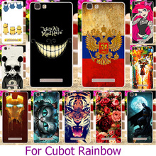 Soft TPU Phone Case For Cubot Rainbow 5.0 Inch Painted Case Cover housing Shell Hood Protector sheath
