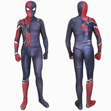 Deluxe Spiderman Far From Home Iron Fit Costume Cosplay Superhero For Adult Halloween Men Women