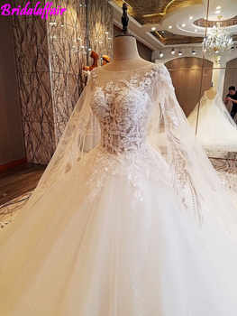 Romantico Perline Senza Maniche Abito Da Sposa High-end Lusso Long Train Principessa Abiti Da Sposa 2018 Vestido De Noiva dress
