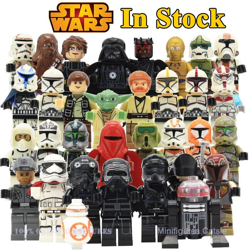 где купить Star Wars The Last Jedi Yoda Obi-Wan Darth Vader Storm Trooper Building Block Compatible with LegoINGlys Starwars Action Figure по лучшей цене