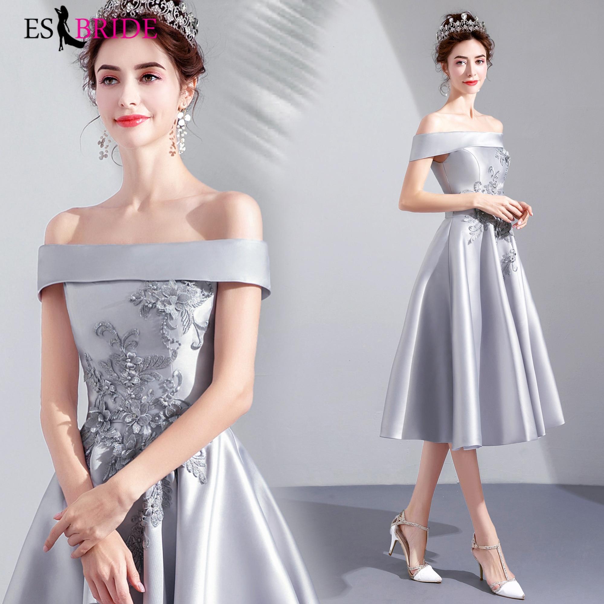 Slieve Simple Vestidos De Fiesta De Noche   Evening     Dress   Boat-neck Elegant Robe De Soiree   Evening     Dresses     Evening   Gown ES2147