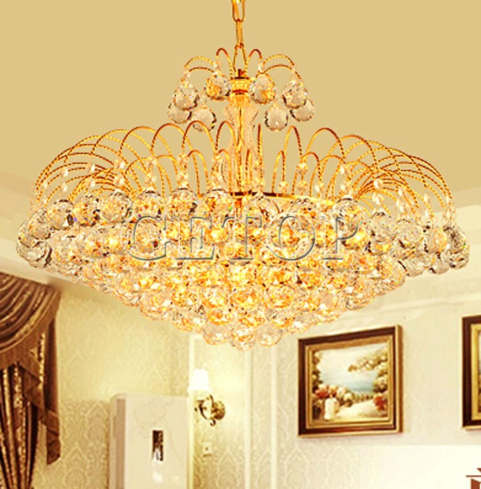 цены Z Best Price European Luxury Golden Round Crystal Chandeliers Light Home Foyer Lamps Hotel Restaurant Clubs Bedroom Droplights