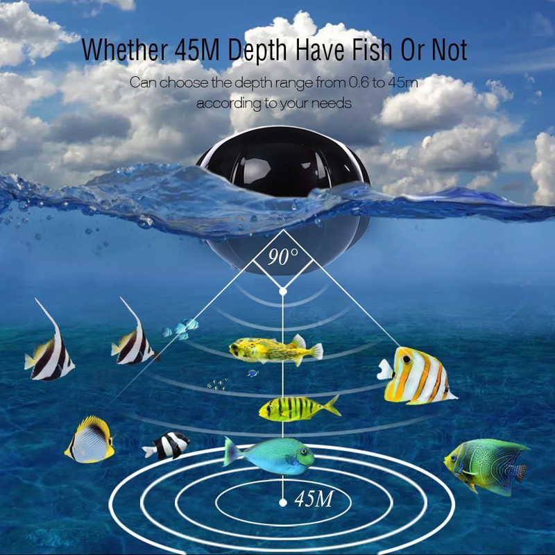 Portable Wireless Fish Finder with Color LCD Display Sonar Sensor Transducer for Fishing ASD88 runacc smart portable fish finder wireless fishfinder portable fish finder with wireless sonar sensor and lcd display