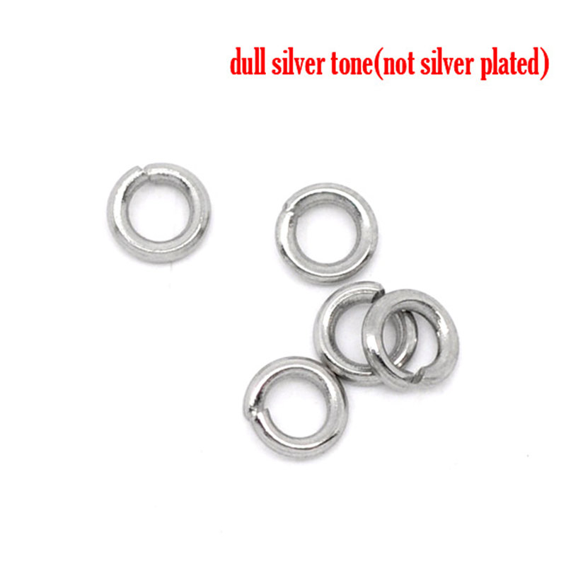 DoreenBeads 500 Stainless Steel Open Jump Rings 4mm Dia. Findings (B10268), yiwu doreenbeads 400 pcs silver color double loops open jump rings 8mm dia findings b04161 yiwu