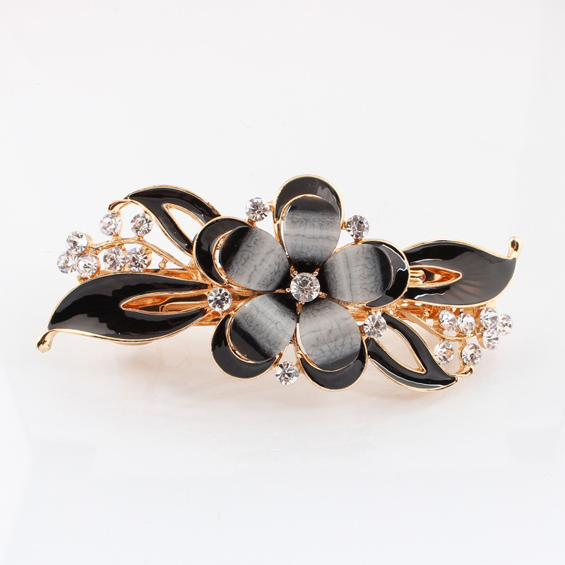 ᗑFlor epoxi cristal pinzas de pelo horquilla para mujer joyería ...