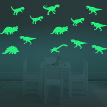 9PCS Fashion 3D Dinosaur Style Luminous Glow in the Dark Wall Window Decals Stickers Kids Toys Gifts(China)