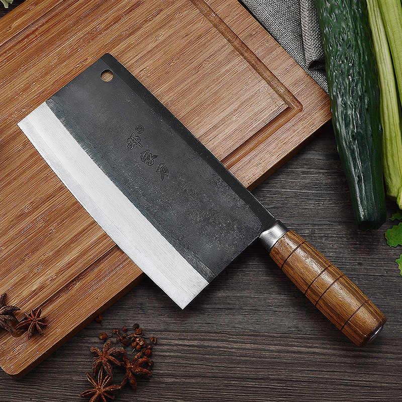 Deng knife High-grade handmade forged blade carbon steel kitchen knife Chinese chef knife vegetable cleaver kitchen knives