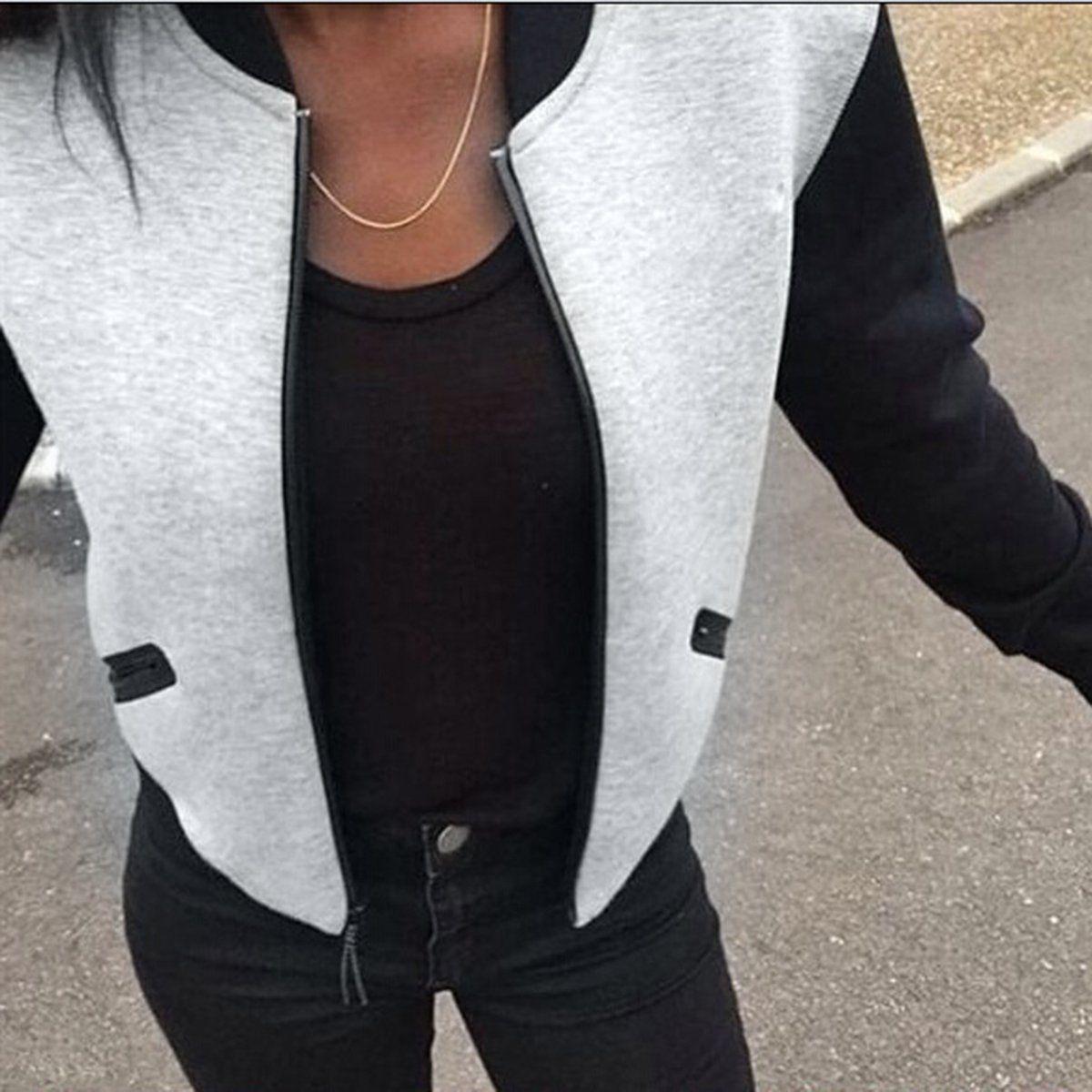 2018 חמה למכירה אופנה נשים Vintage Jacket מחבל Puseky Zip עד Biker אופנתי רוכסן מרופד מעיל עליון חולצה סתיו חורף מעילי