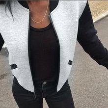 a42f04d9fd Puseky 2018 Hot sprzedaż moda damska kurtka Bomber w stylu Vintage zapinane  na zamek Biker stylowe wyściełane zamek płaszcz bluz.