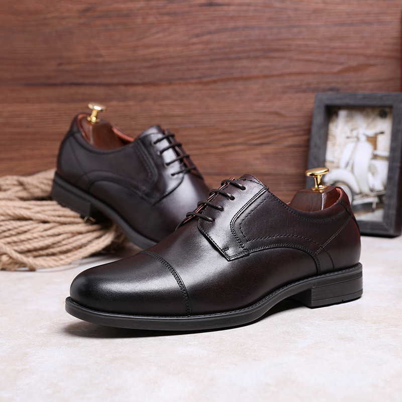 Shoes Clearance Sale Italian Designer Oxford Vintage Dress Shoes Genuine Leather Lace-up Pointed Toe Mens Shoe Business Wedding Shoes