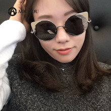 AOUBOU Fashion Cat Eye font b Sunglasses b font font b Women b font Brand Designer